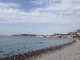 Public beaches in Menton
