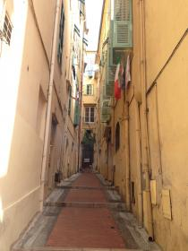 Narrow streets in Menton